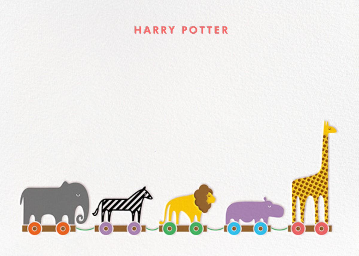Animal Train - Paperless Post - Kids' stationery