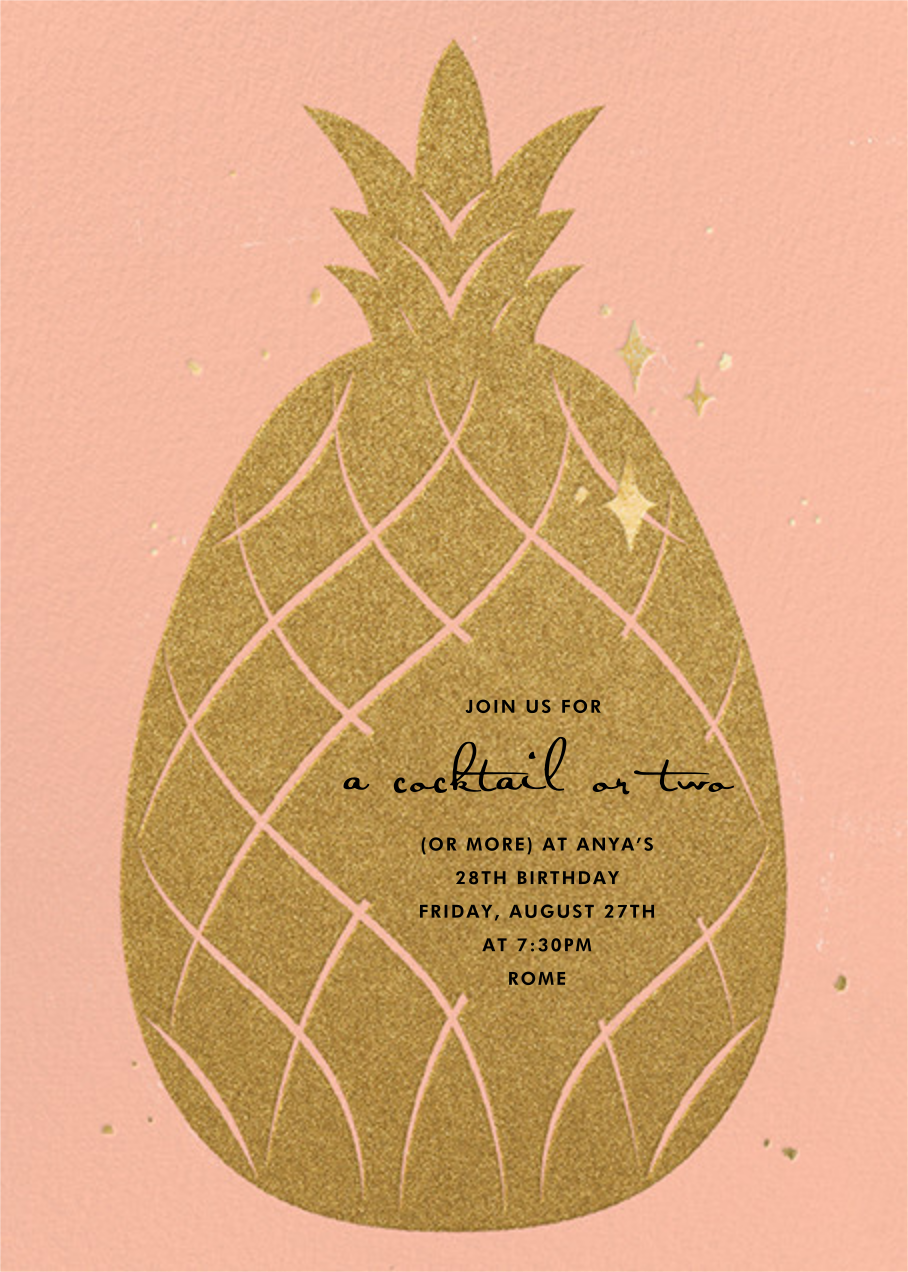Go Ananas - Paperless Post - Adult birthday