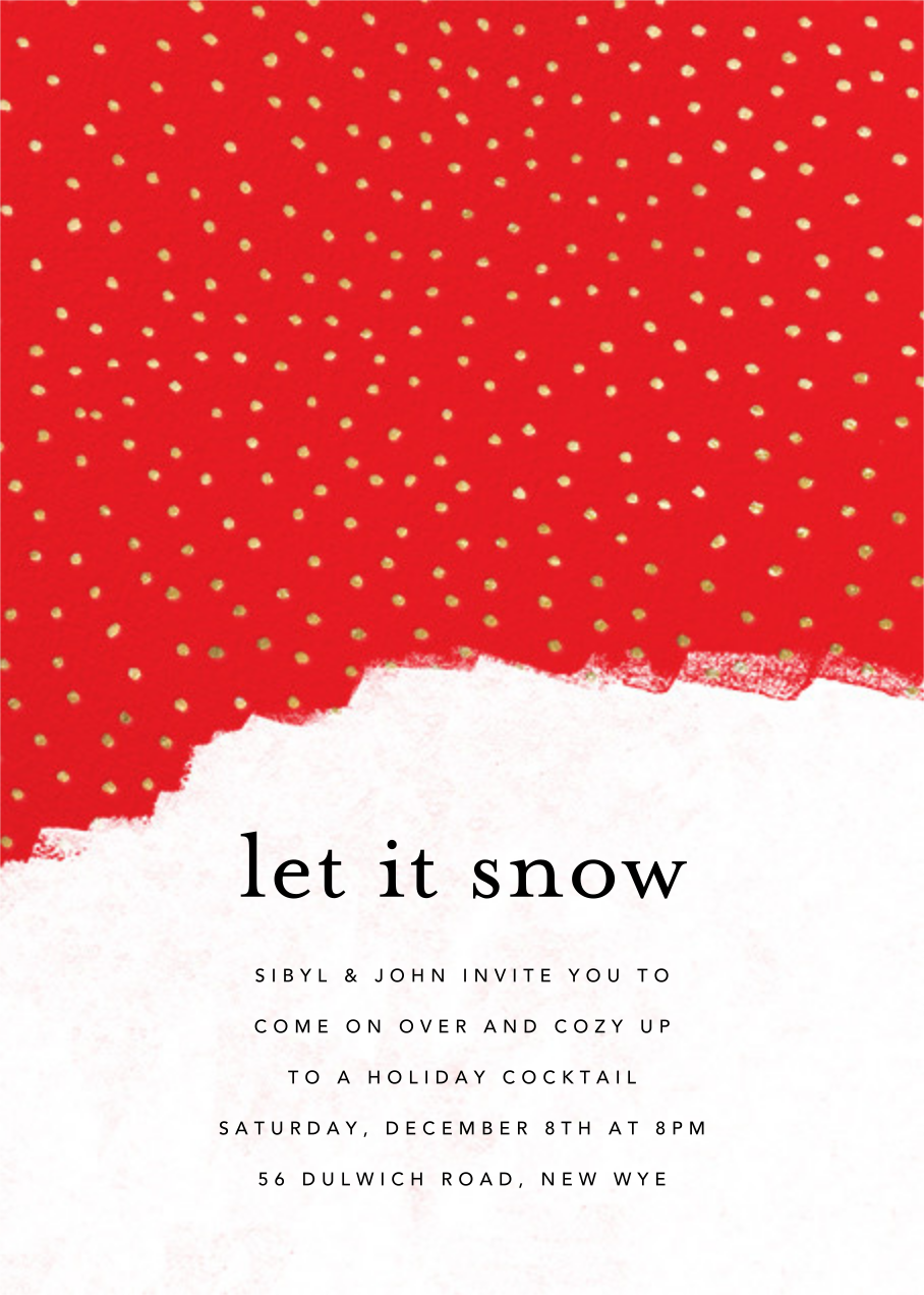 Confetti Snowfall - Maraschino - online at Paperless Post