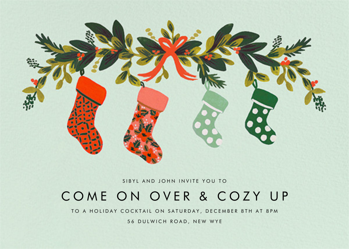 Family Stockings - Rifle Paper Co. - Christmas party