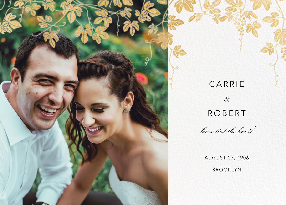 Vineyard II (Photo Announcement) - Gold - Paperless Post - Wedding
