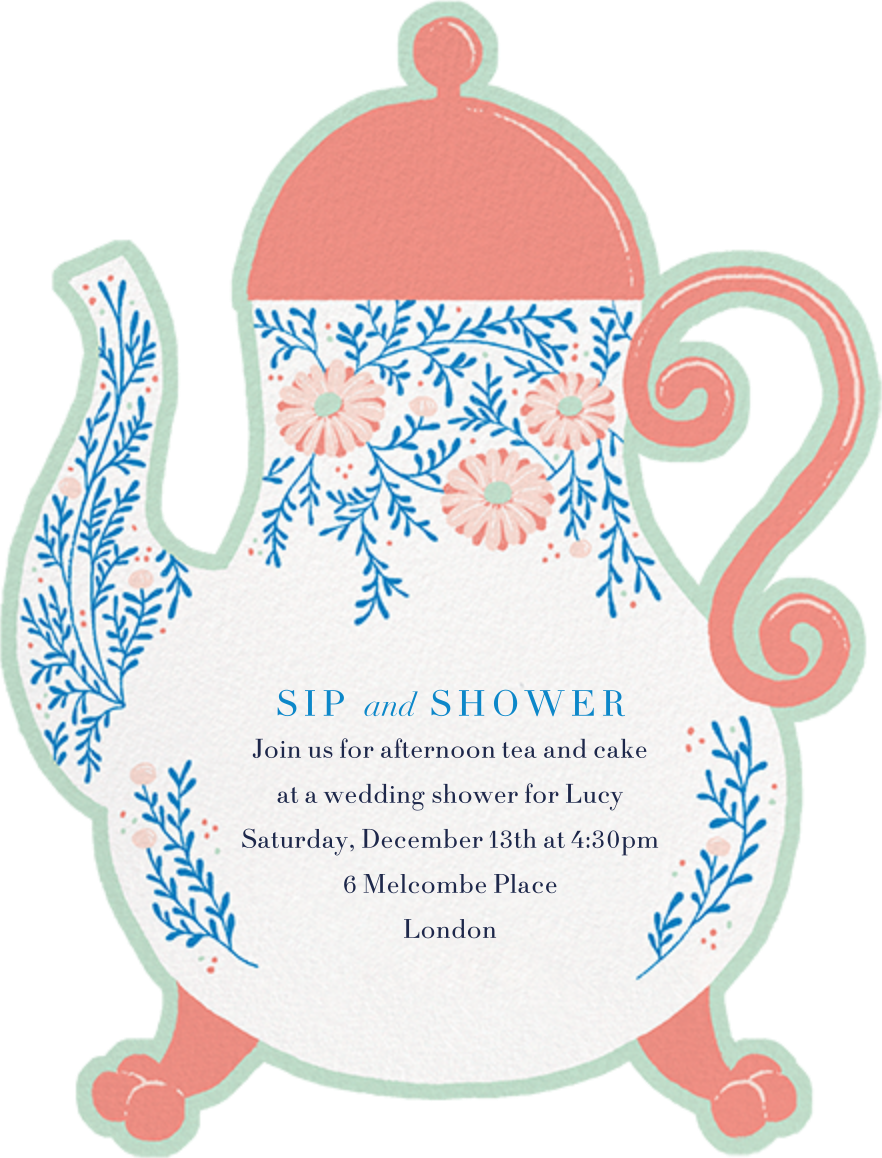 Lady Potts' Cosy - Paperless Post - Bridal shower