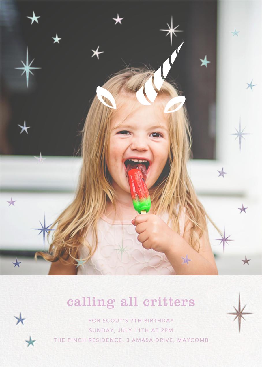 Plenty of Horn - Paperless Post - Kids' birthday