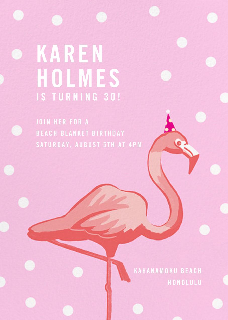 Pink Flamingos - Paperless Post - Adult birthday