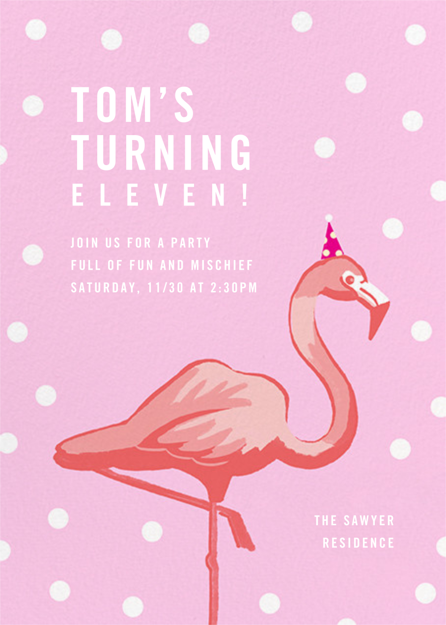 Pink Flamingos - Paperless Post - Kids' birthday