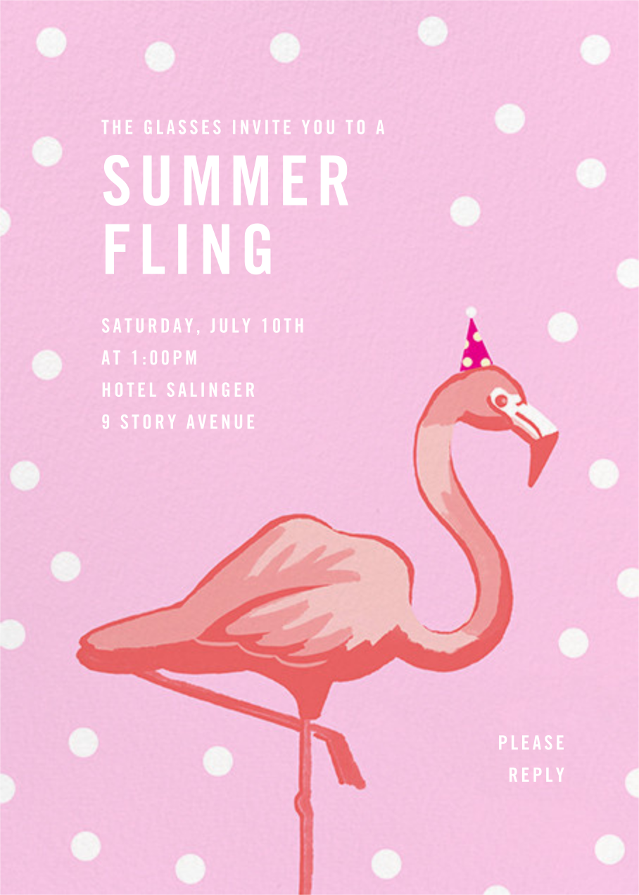 Pink Flamingos - Paperless Post - Summer entertaining