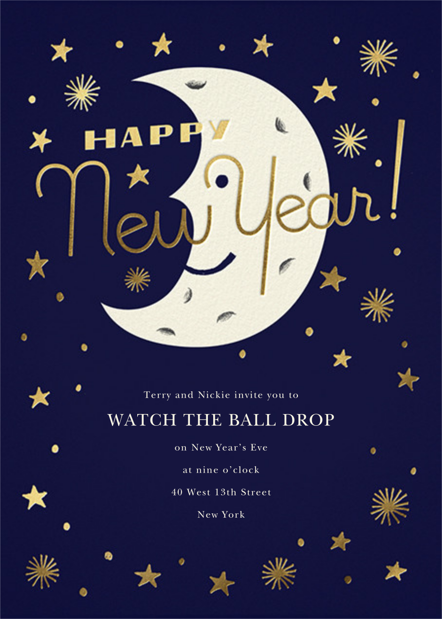 New Moon - Paperless Post - New Year's Eve