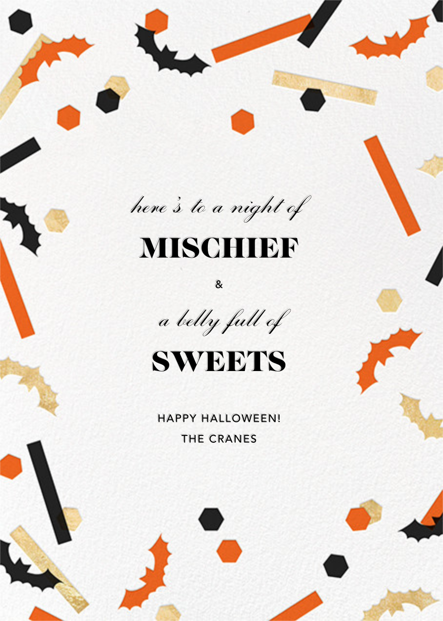 Frightful 'Fetti - Paperless Post - Halloween
