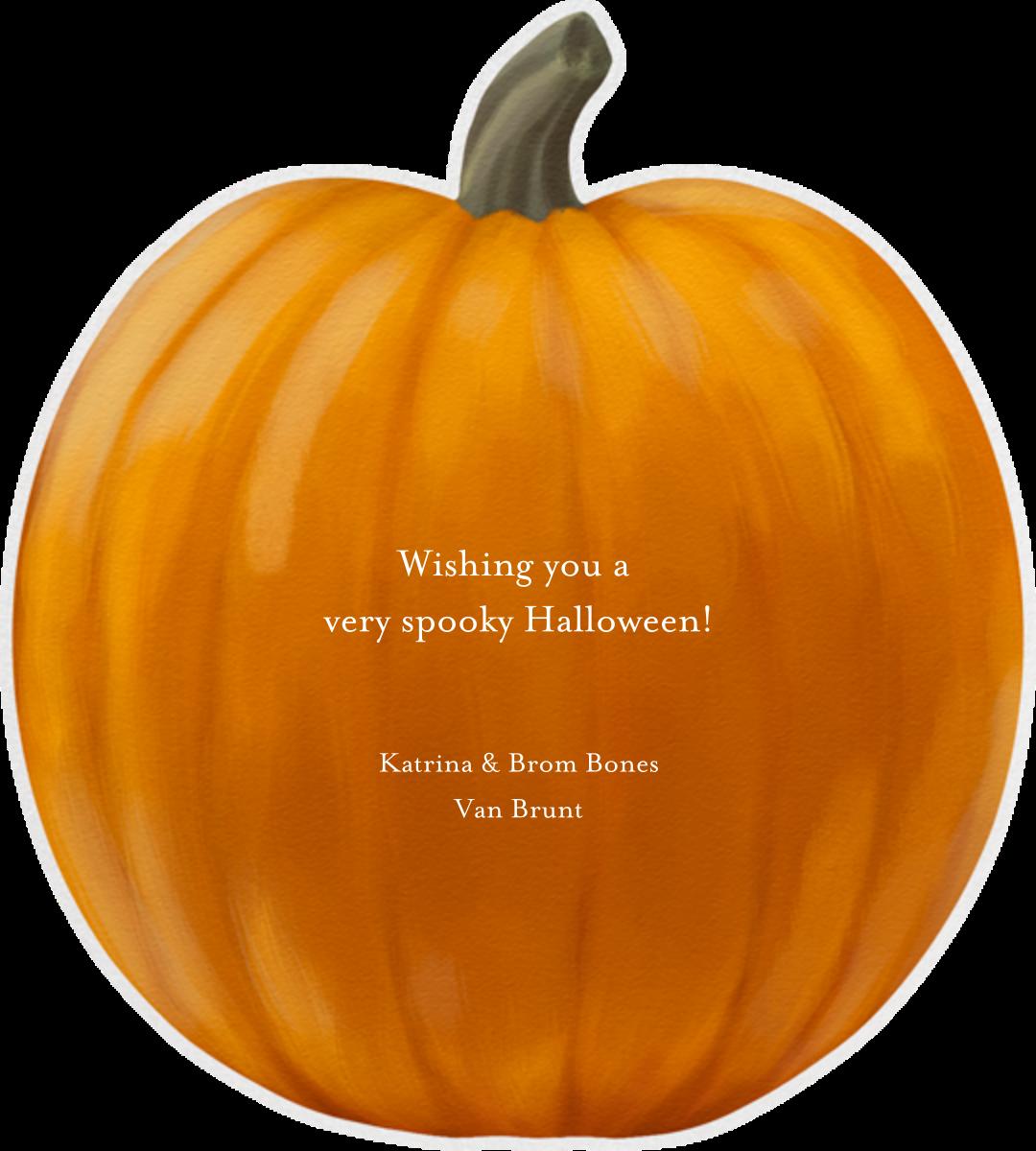 Handpainted Pumpkin - Paperless Post - Halloween