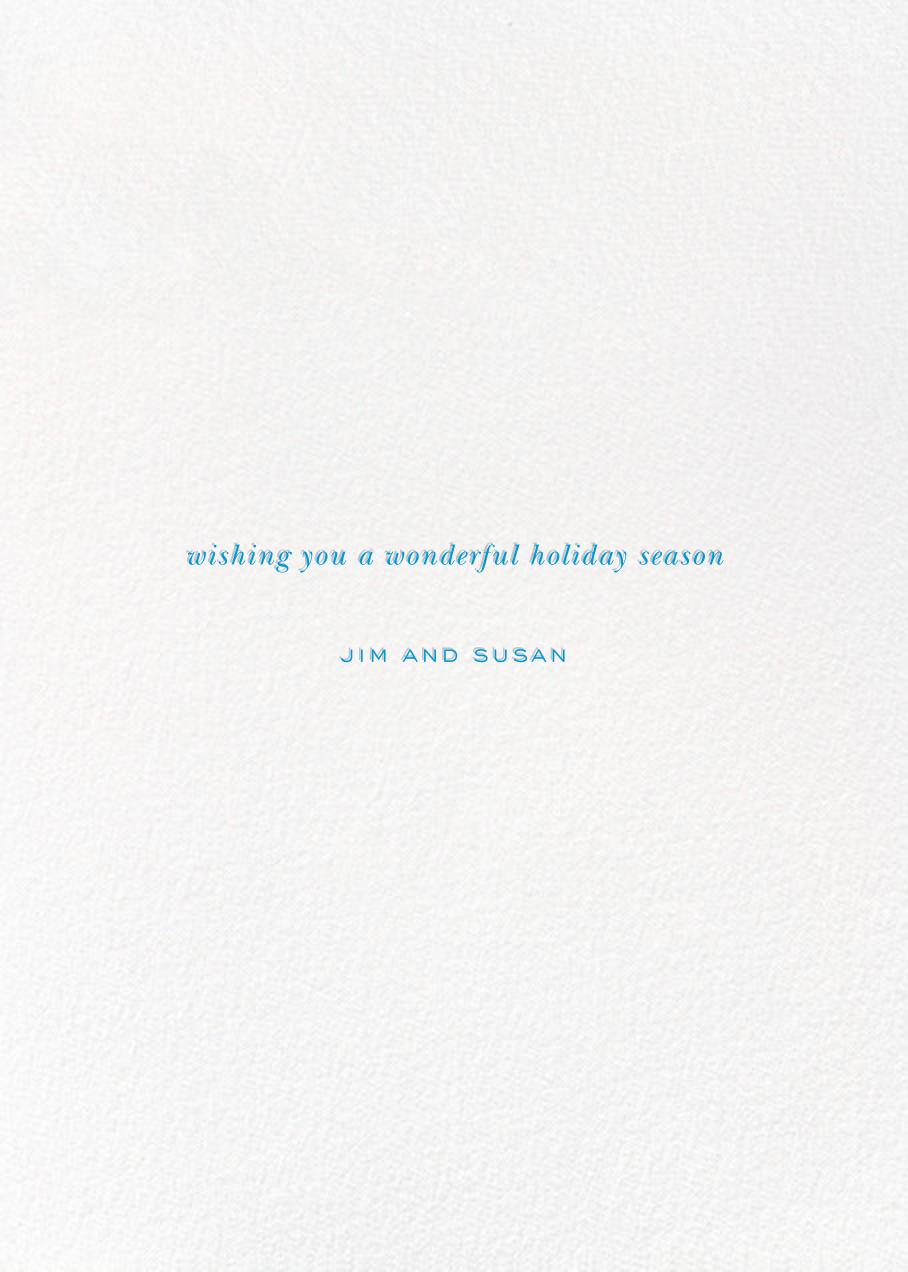 Holiday Baronial (Photo)  - kate spade new york - Holiday cards - card back