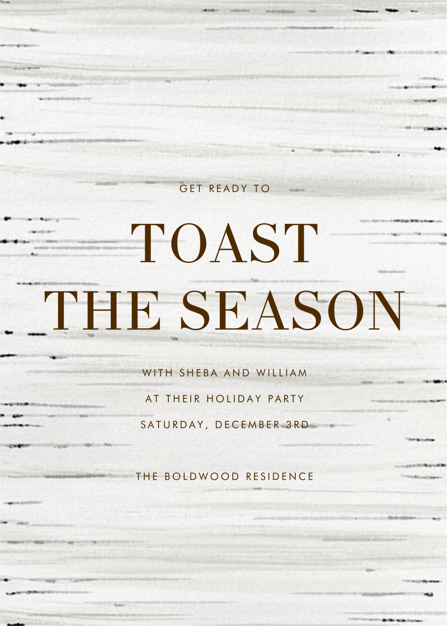 Birch Bark - Paperless Post - Holiday save the dates