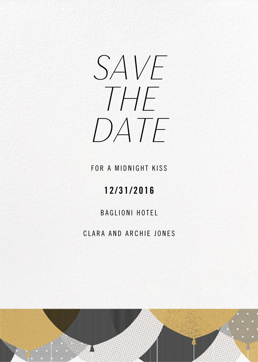 Curtain Raiser - Paperless Post - Holiday save the dates