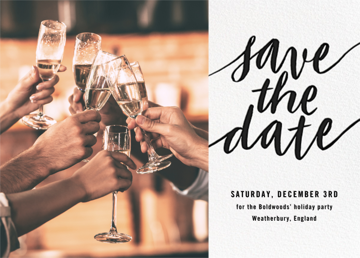 Evelina (Photo) - Black - Paperless Post - Party save the dates