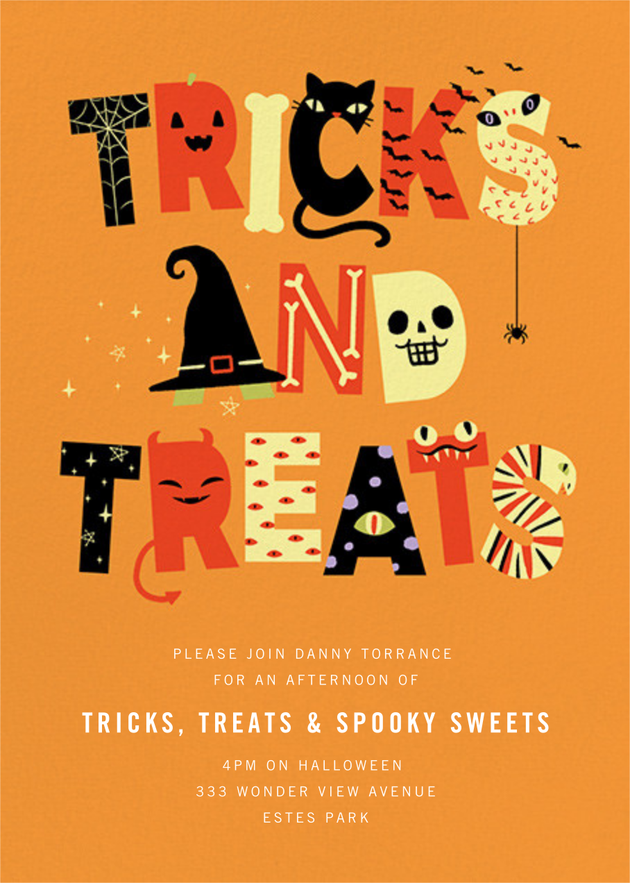 Tricky Letters - Paperless Post - Halloween
