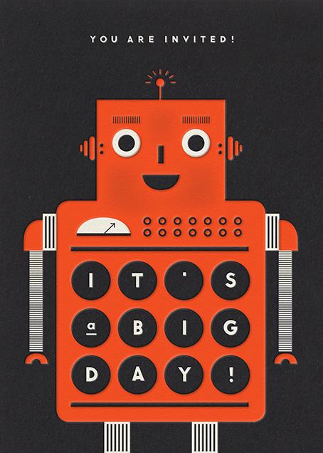 Robot - Orange - The Indigo Bunting - Kids' birthday