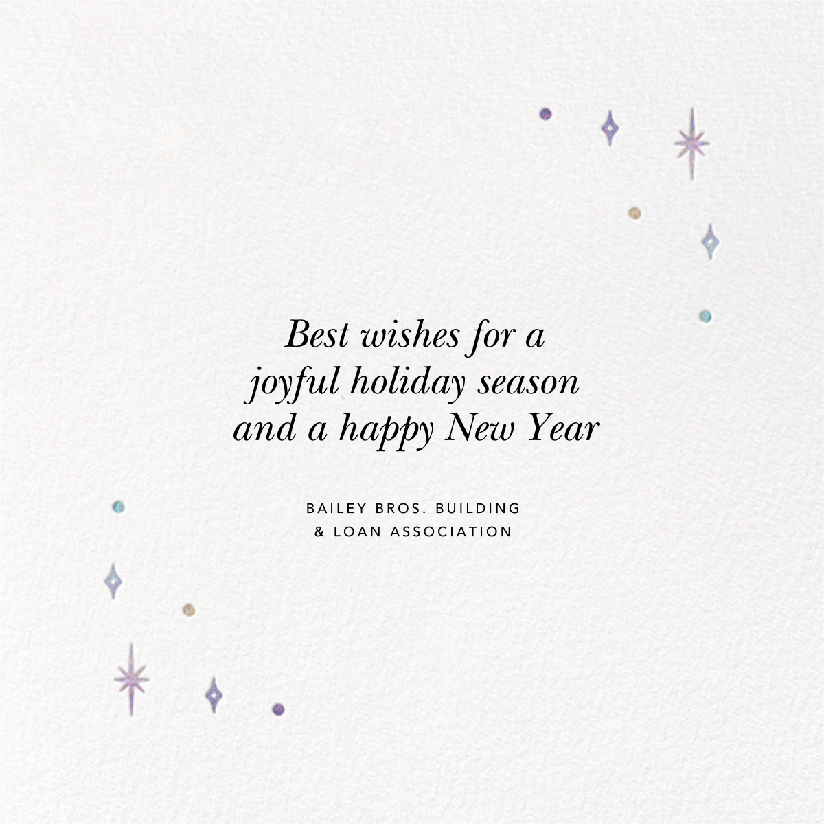 A Glowing New Year (Square) - Paperless Post - Company holiday cards - card back