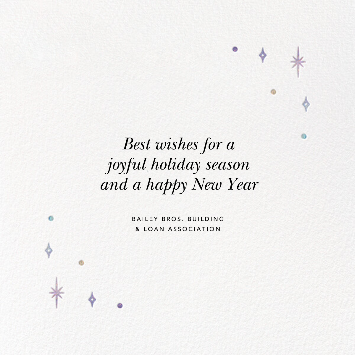 A Glowing New Year (Square) - Paperless Post - Business holiday cards - card back