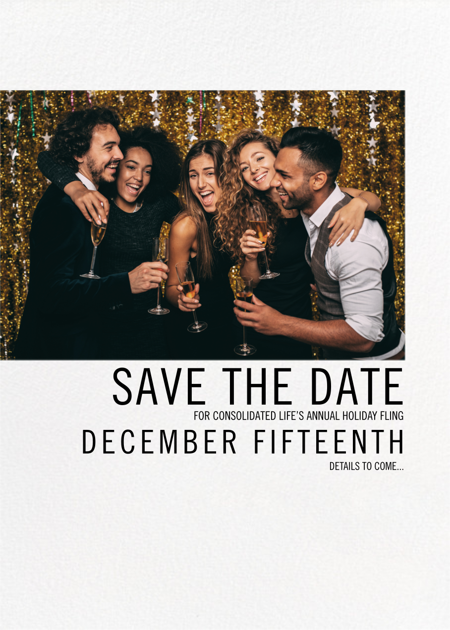 Mise en Scène - Paperless Post - Holiday save the dates