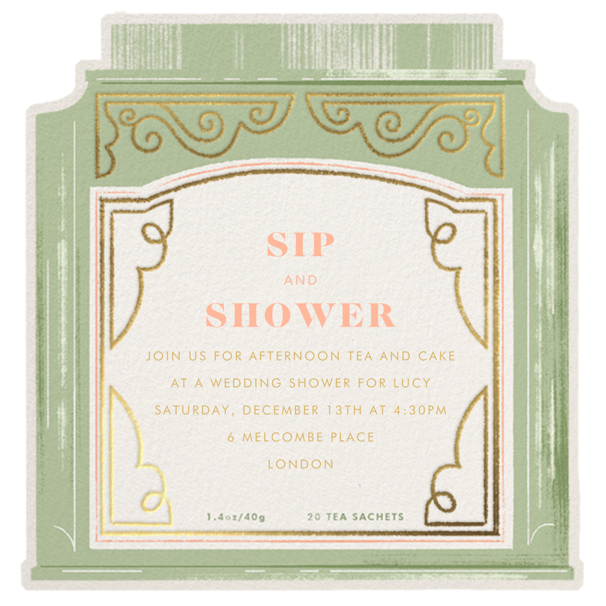 Sweet Tea - Paperless Post - Bridal shower