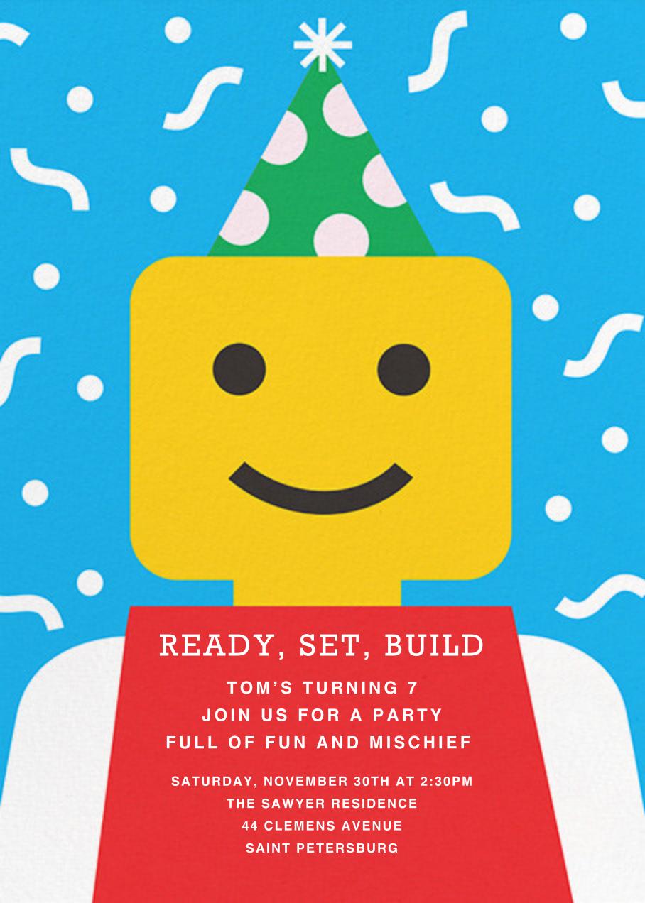 Building Block Party - Paperless Post - Kids' birthday