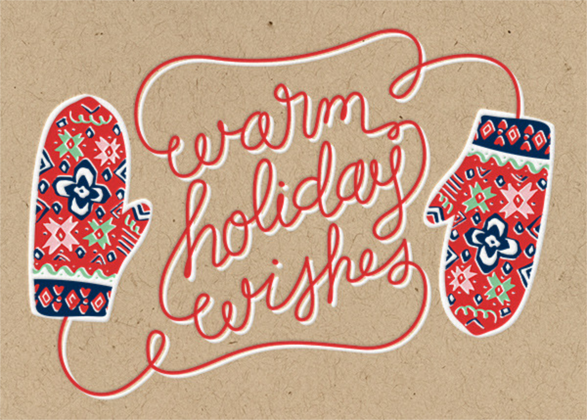 Mittens - Paper Source - Holiday cards