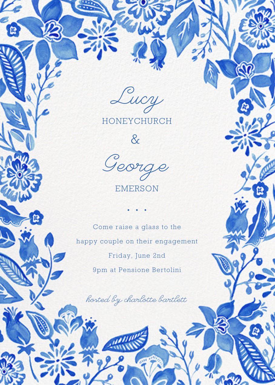 Blue Floral - Paper Source - Printable invitations