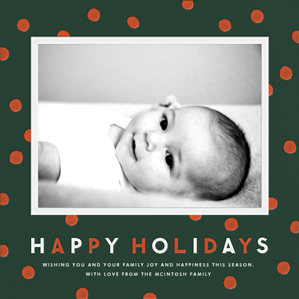 Dots - Hunter - The Indigo Bunting - Holiday cards