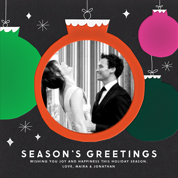 Ornaments - The Indigo Bunting - Holiday cards
