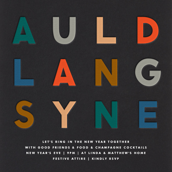 Auld Lang Syne - The Indigo Bunting - New Year's Eve