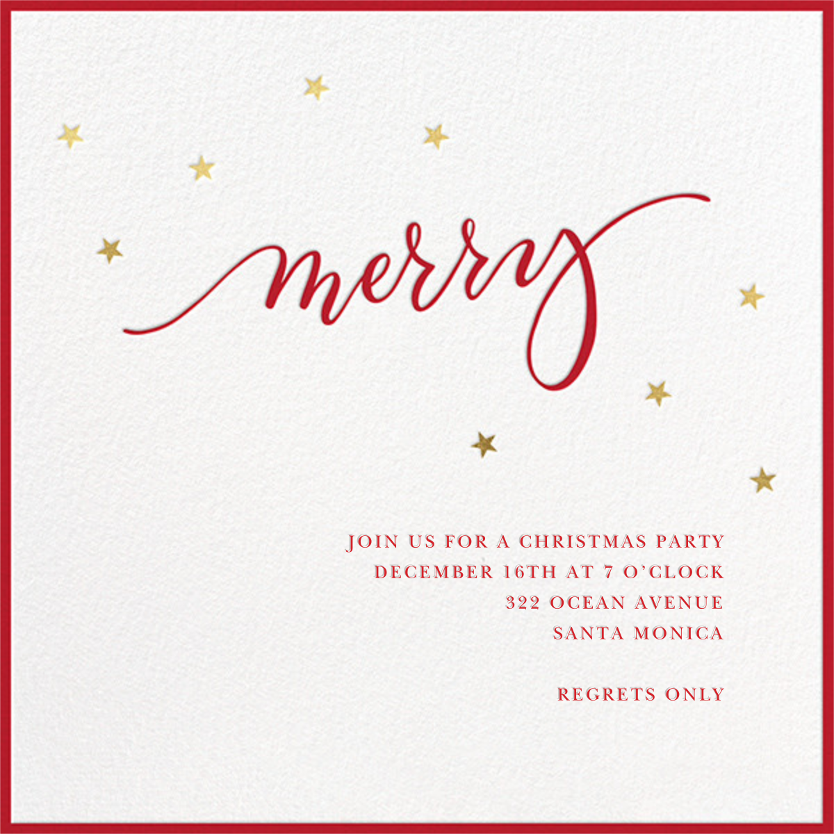 Merry Stars - Sugar Paper - Christmas party