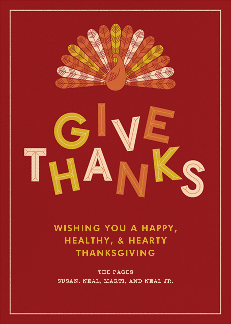 Turkey Feathers - Crate & Barrel - Thanksgiving