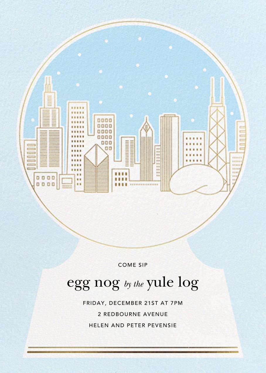 Chicago Skyline Snowglobe - Paperless Post - Winter parties