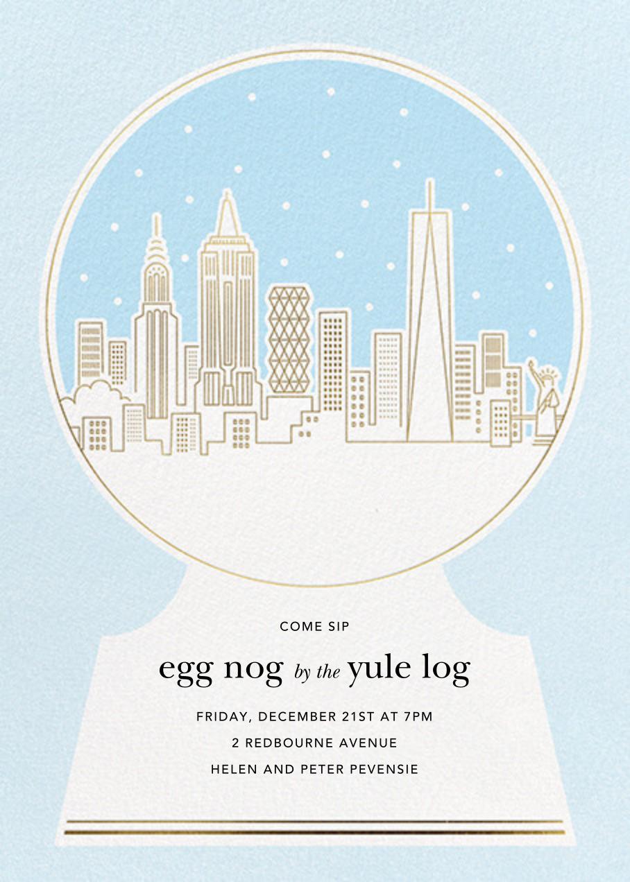 New York Skyline Snowglobe - Paperless Post - Winter entertaining