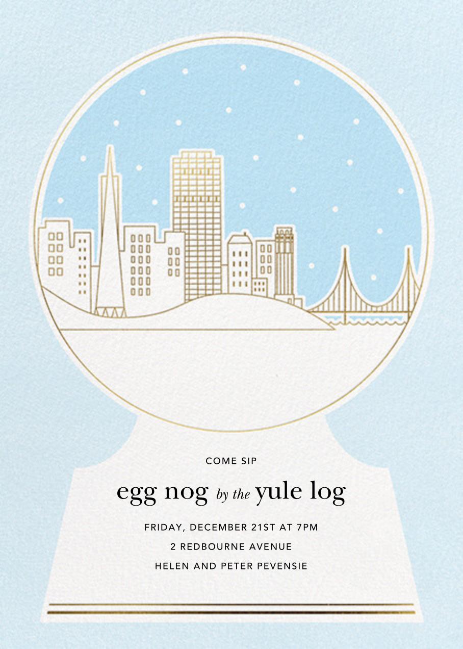 San Francisco Skyline Snowglobe - Paperless Post - Winter parties