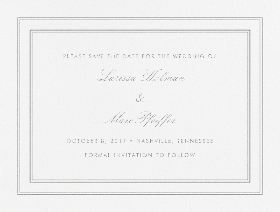 Matte (Save the Date) - Platinum - Vera Wang - Save the date