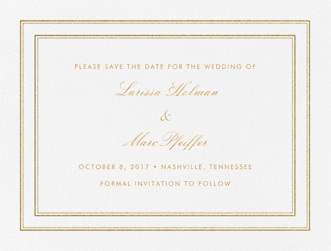 Matte (Save the Date) - Gold - Vera Wang - Save the date