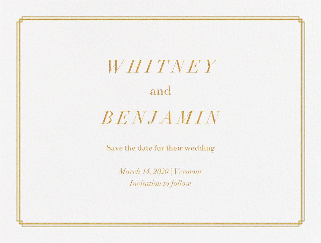 Notch (Save the Date) - Gold - Vera Wang - null