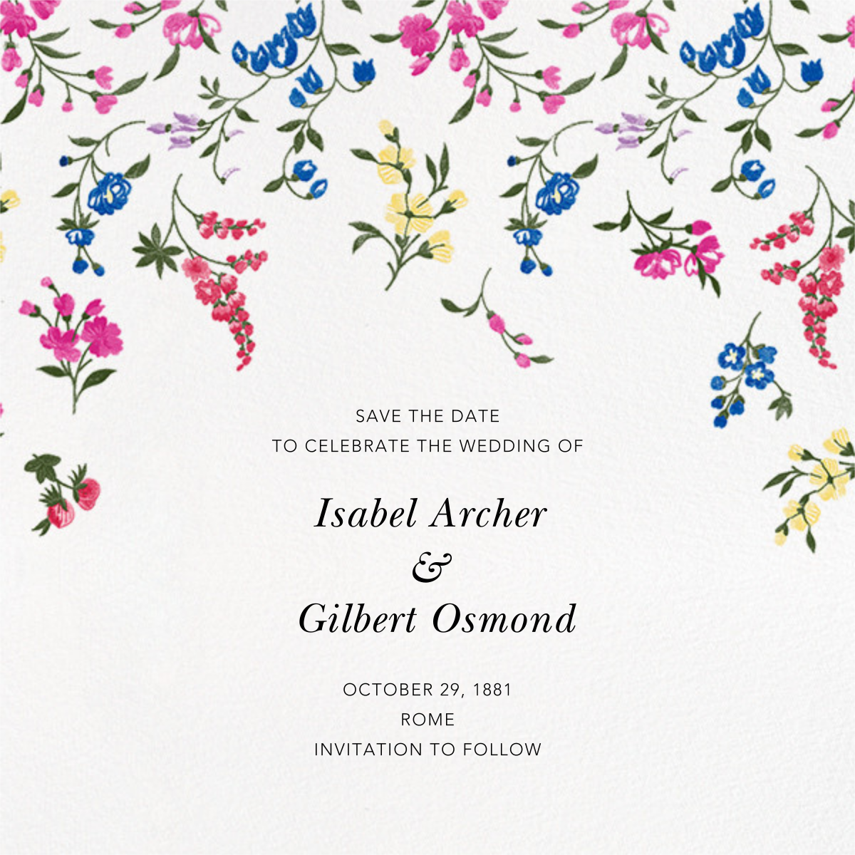 English Garden (Save the Date) - Oscar de la Renta - Save the date