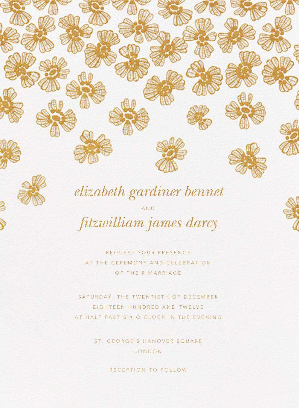 Petals on Lace - Medium Gold - Oscar de la Renta