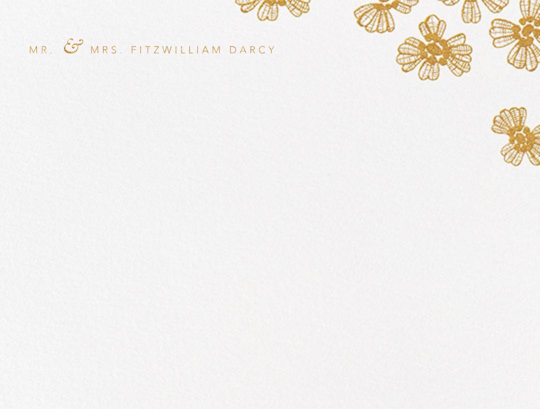 Petals on Lace (Thank You) - Medium Gold - Oscar de la Renta