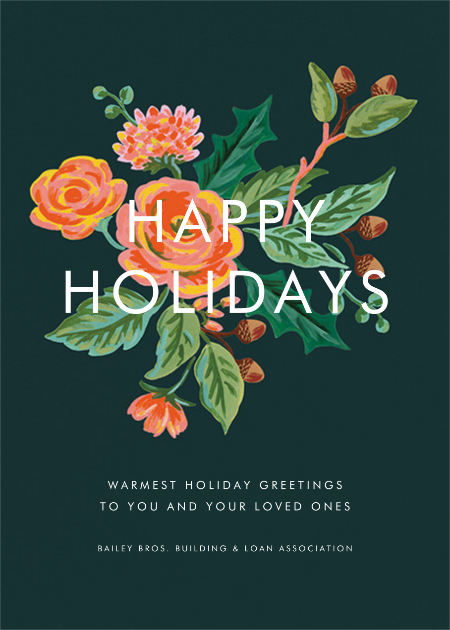 Jardin Noel - Rifle Paper Co. - Business holiday cards