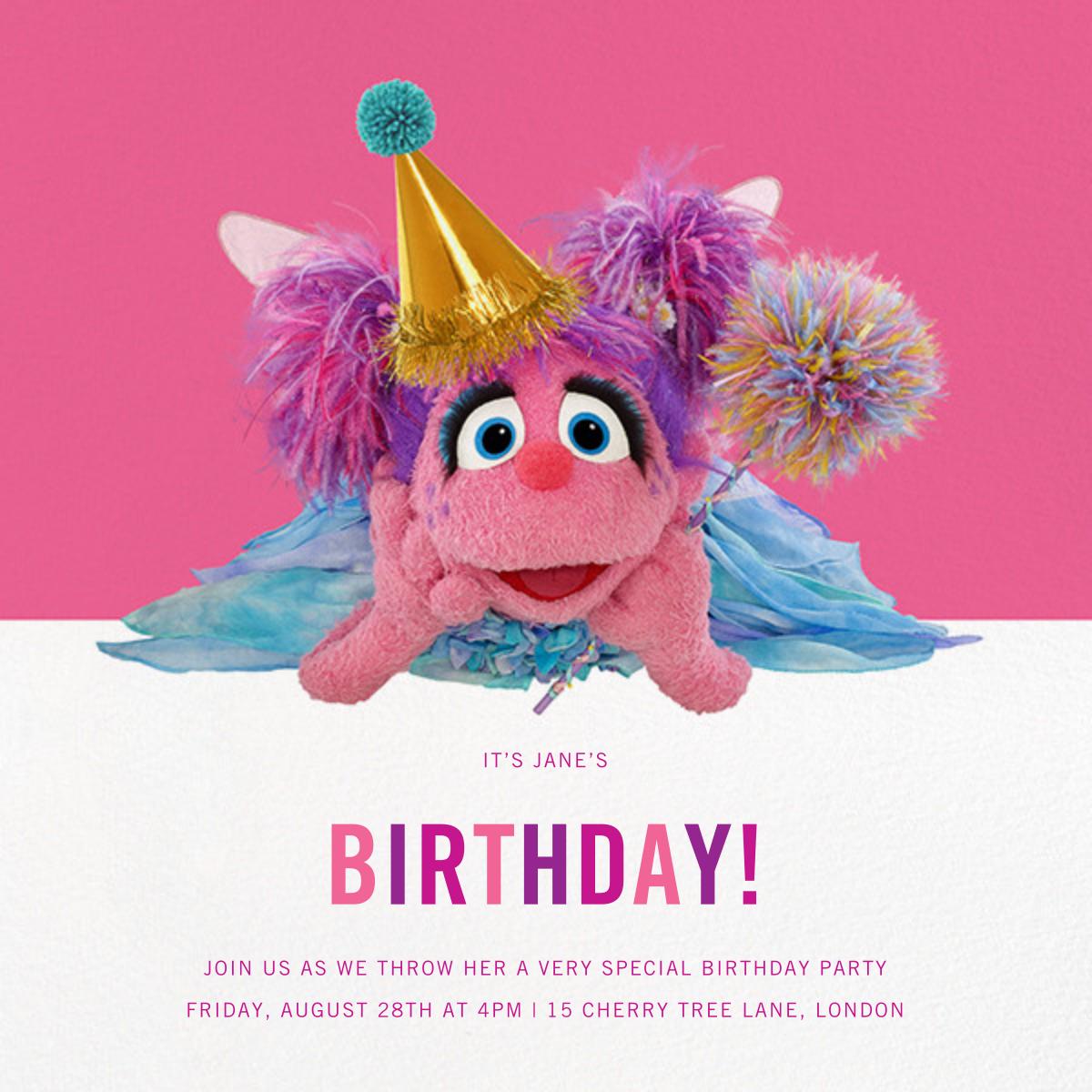 Abby Cadabby - Sesame Street - First birthday and baby