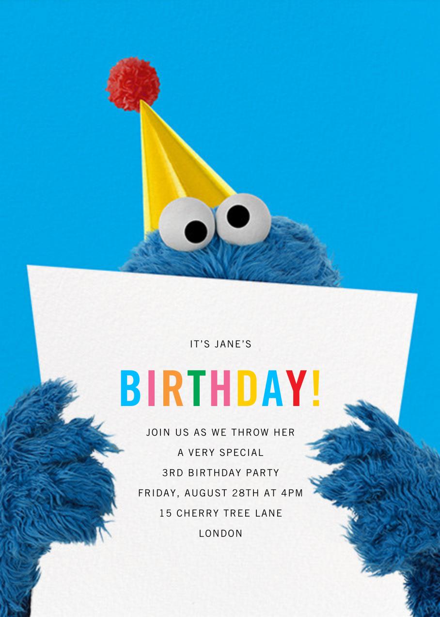 A Monster of a Birthday - Sesame Street - Kids' birthday