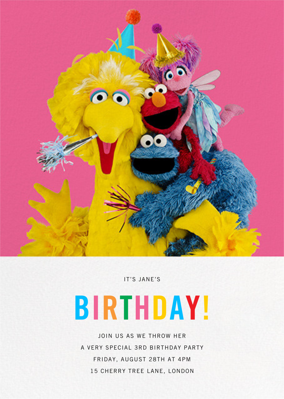 Big Bird and Company - Sesame Street - First birthday and baby