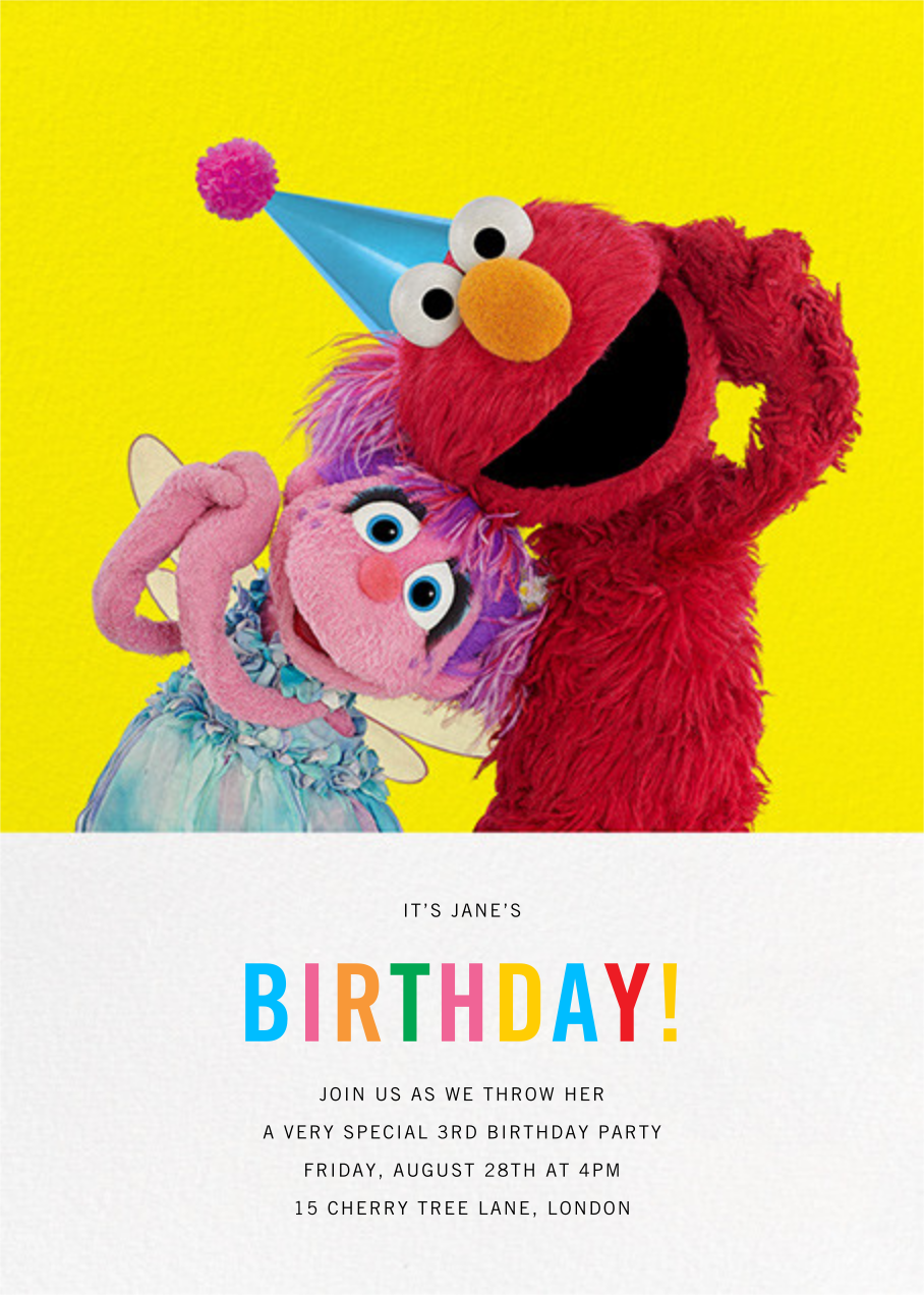 Birthday Fun! - Sesame Street - First birthday and baby