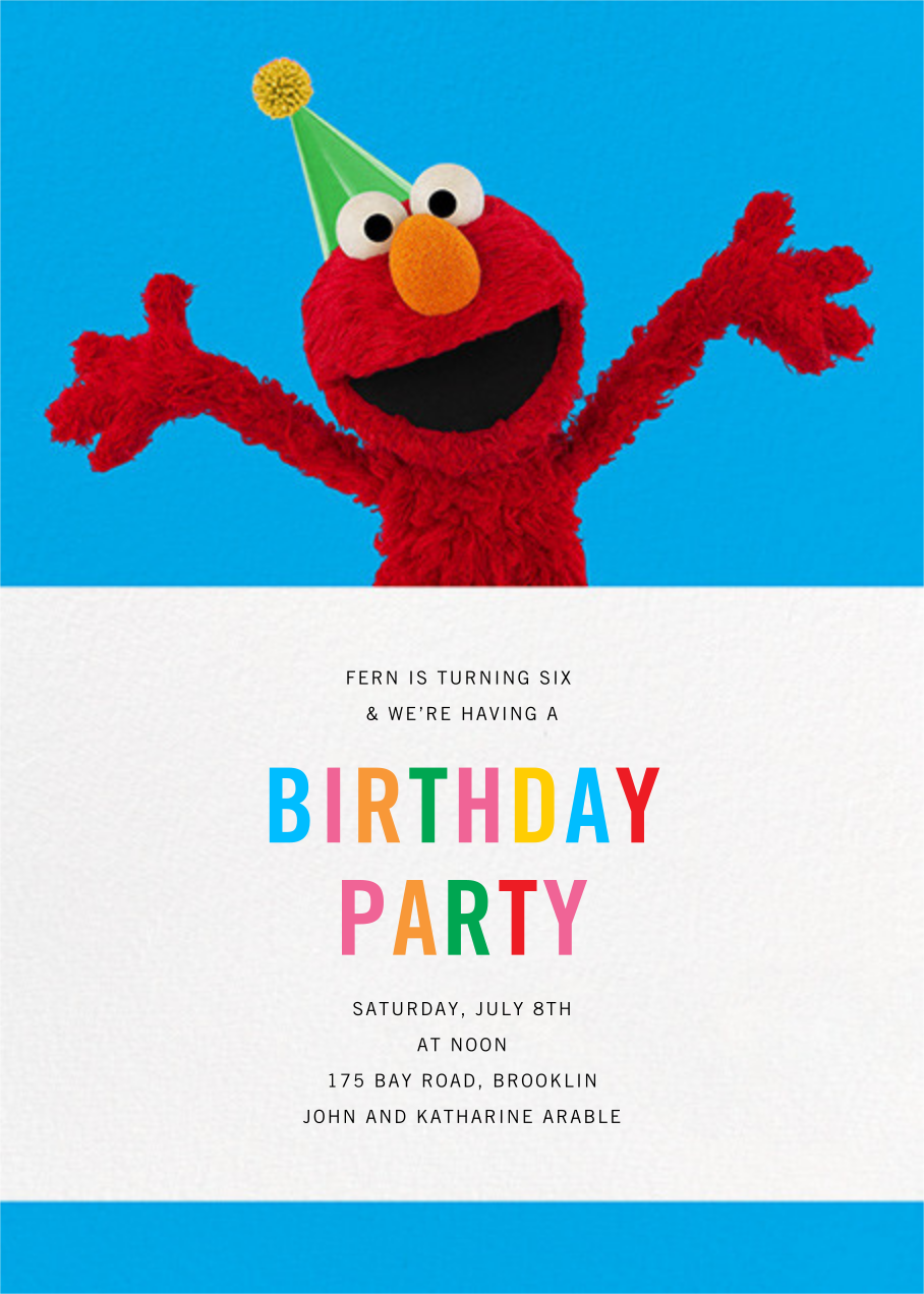 Elmo's Tickled - Sesame Street - First birthday and baby