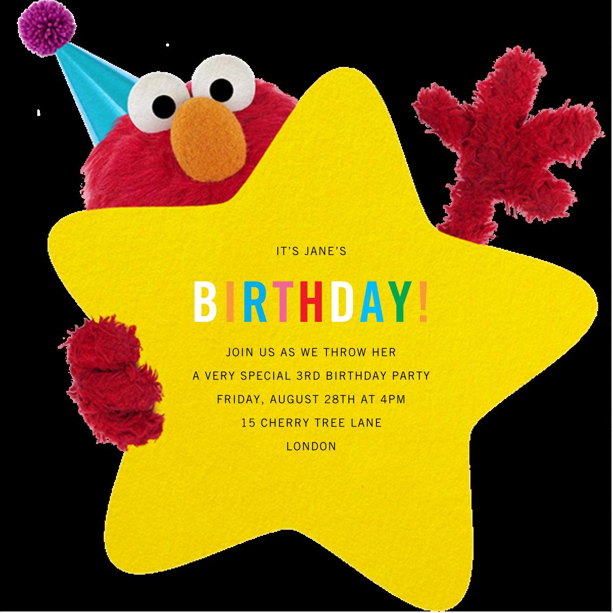 Hey, Elmo - Sesame Street - Kids' birthday