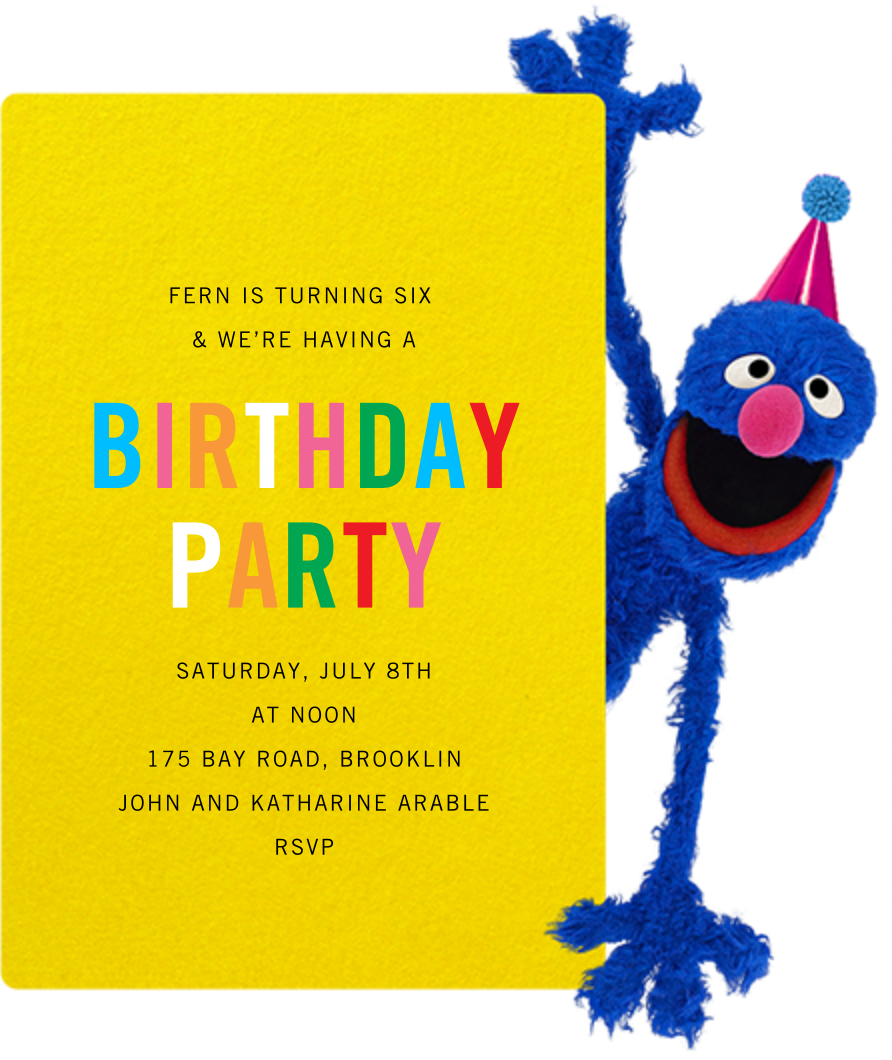 Hi, Grover - Sesame Street - Kids' birthday