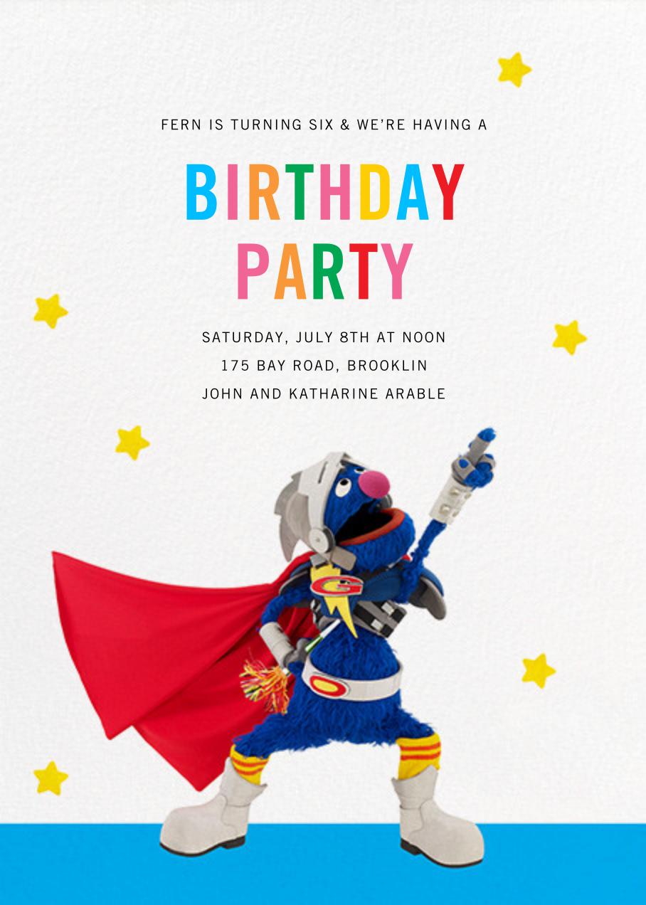Super Grover - Sesame Street - Kids' birthday
