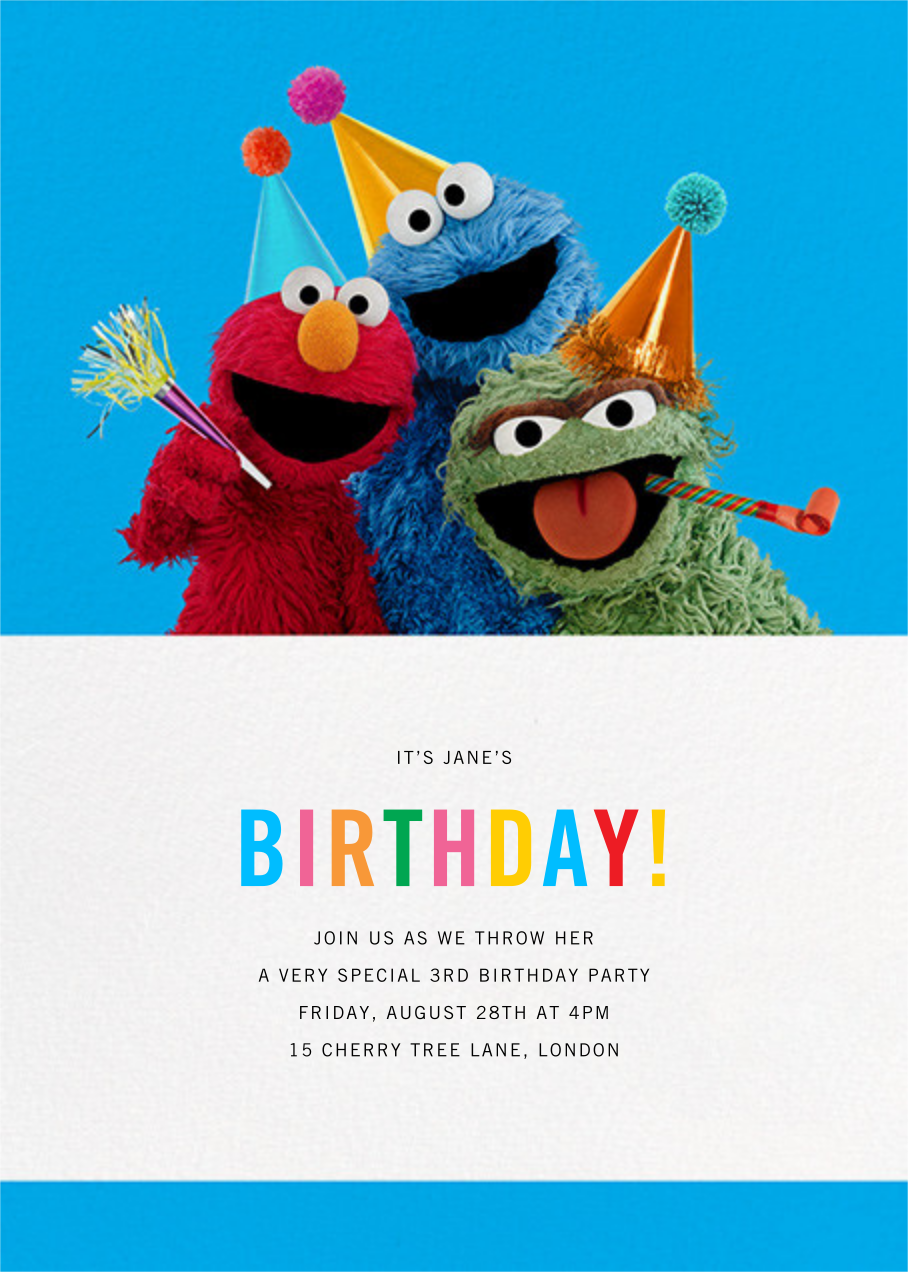 One Of These Things... - Sesame Street - First birthday and baby